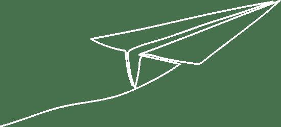 Dibujo avión papel volando